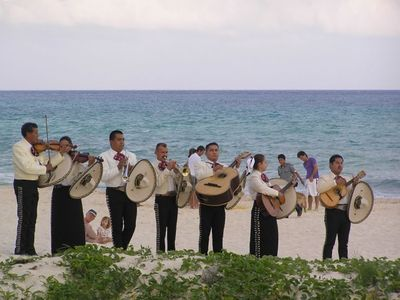 Quiet, Private Beach with an occasional Mariachi band & wedding!