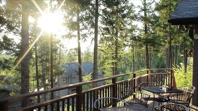 Whitefish house rental - Sunsets from the Upper Deck.