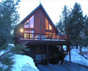 Tahoe Donner house rental - Front Deck in Photo, Rear Deck Faces National Forest