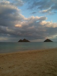 View of Mokolua Islands in Lanikai