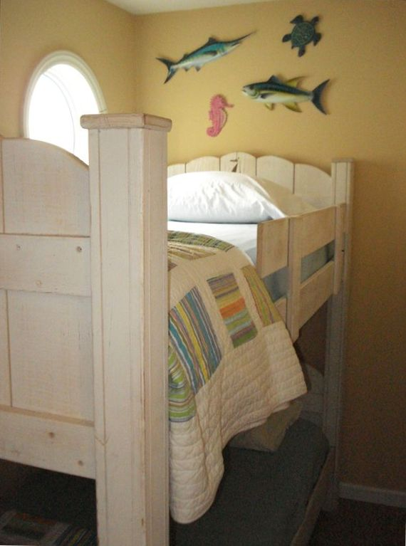 1/2 Bedroom with bunks for the kids