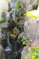 Lanikai house photo - An outdoor waterfall welcomes you at the entrance of the home