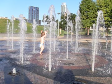 Take a little splash on a hot day at near by Park next to Palmer Event Center