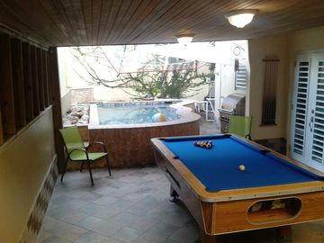 Billiard, Pool and BBQ area