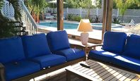 Newly Remodeled Palm Island Waterfront  4/ 2.5 Heated Pool/Spa  Dock/Lift Pet Ok