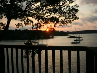 Harpswell house photo - sunrise from the deck