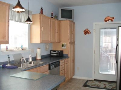Nice Size Kitchen and very Well Equipped with everything you need!