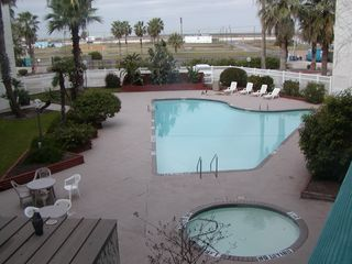 Corpus Christi condo photo - View from inside condo and on covered balcony
