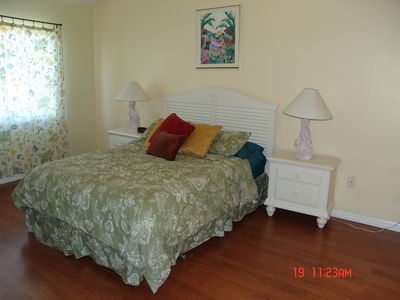 Master suite with queen bed and inside bathroom