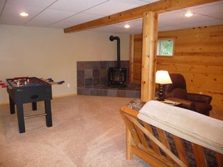 Birchwood cabin photo - relax by the fire