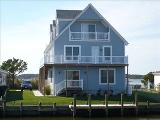 Upscale waterfront home with elevator homeaway for House plans with elevators waterfront