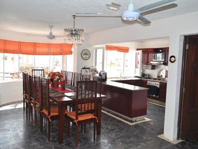 Cabarete villa rental - Villa Flamingo Dining and Kitchen Areas