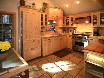 Kitchen w/ Viking Range, Sub Zero Fridge, and all the kitchen amenities