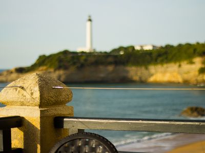 The Biarritz lighthouse