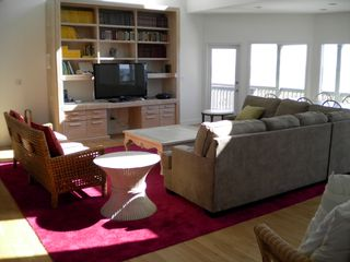 Isle of Palms house photo - Great room with 52 inch TV very open with great beach views