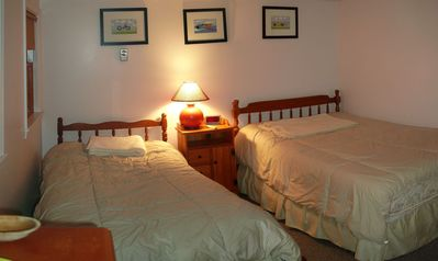 Eastham cottage rental - Bedroom: one double bed, and one twin bed. Located on second floor.