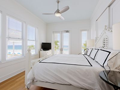 Rosemary Beach house rental - MAIN--E Gulf-Front Porch, & One of 5 King Master Suites (w/In-suite Baths)