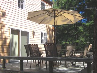 Wellfleet house photo - large deck ....great for relaxing