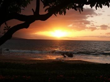 View of sunset from private lanai
