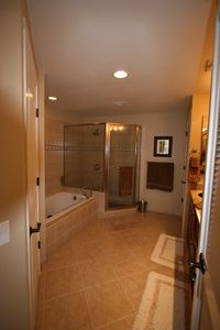 Spacious Master Bath with Dual Vanity and Walk In Closet