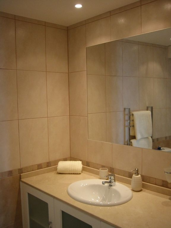 Newly refurbished bathroom with bath & shower
