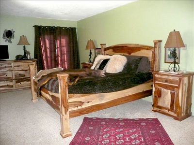 3rd Level Master King Bedroom with Persian Rug