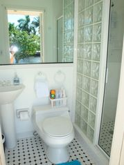 Fort Lauderdale house photo - Convenient cabana bath and shower opens to pool deck.