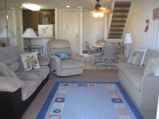 Oceanside condo photo - Living Room with 2 sofas (one is a queen pull-out sleeper) and recliner chair