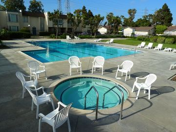 Huntington Beach townhome rental - One of 3 pools- In summer all 3 pools are open and 2 of them w/ diving boards