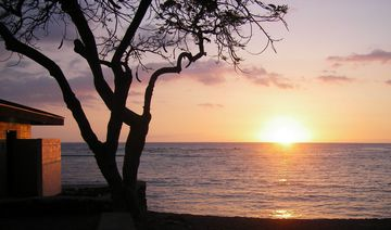 Kahaluu house rental - Kahaluu Beach Sunset