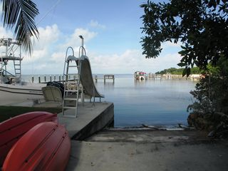 Key Largo house photo - water slide into the bay, lots of fun for the kids