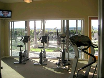 Exercise Room Overlooking the Pool, If You Have the Time!
