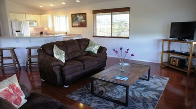 Living Room - The Upper Living Room is open to the kitchen so your family and friends can enjoy each others company.