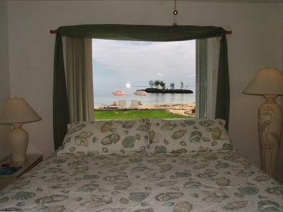 Every bedroom and living room looks over the beautiful, turquoise Sea of Abaco