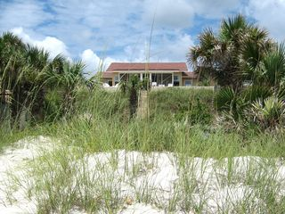 New Smyrna Beach house photo - Beach Nuts back view from the ocean with its own sugar sand private path.