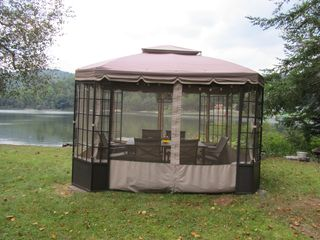 Ludlow cottage photo - Screen Gazebo for summer time fun!