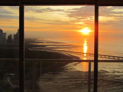 Amazing sunset views from balcony and inside living room & bedroom