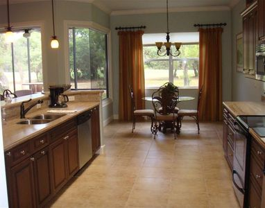 Kitchen and Dining area view to the 18th Fairway