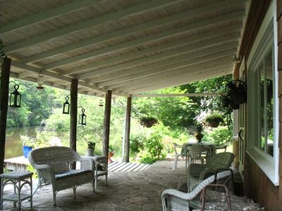 Covered Back Porch and Dock, Lakeside