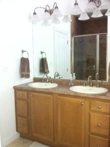 Master Bath with comfort-height vanity