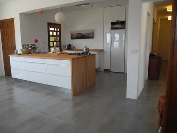 Alfaz del Pi villa rental - Dining area to newly fitted kitchen (@ April 2013)