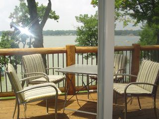 Cedar Lake cabin photo - View of lake from 2nd floor balcony/family room