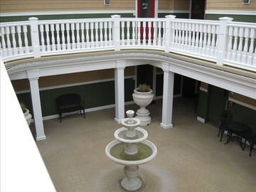 Overlooking first floor common courtyard