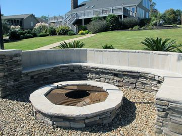 Lakeside Fire-pit with cook-top grate