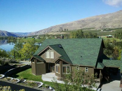 Beautiful views of the Columbia River / Lake Entiat from this waterfront home