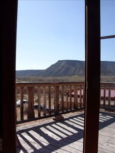 View of Abiquiu  Mesa from the doorway