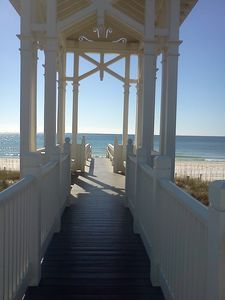 Just a few steps to this Walk Over that leads to the White Sandy Beach!!