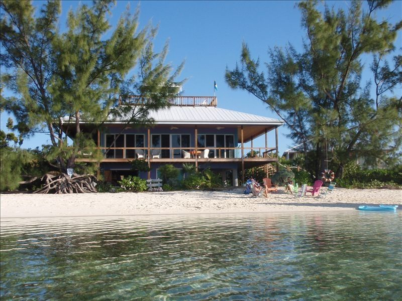 Direct beach front on protected sandy beach vrbo for Beach houses for rent in bahamas