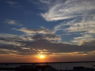 Barnegat Light house photo - Sunset from Roof Top Deck