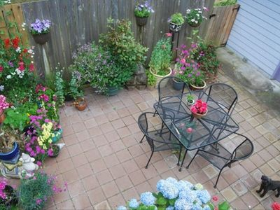 Patio with container garden